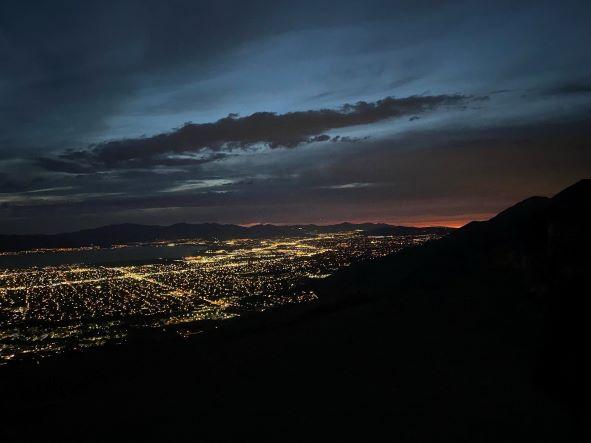 Utah Valley Shrouded In Darkness