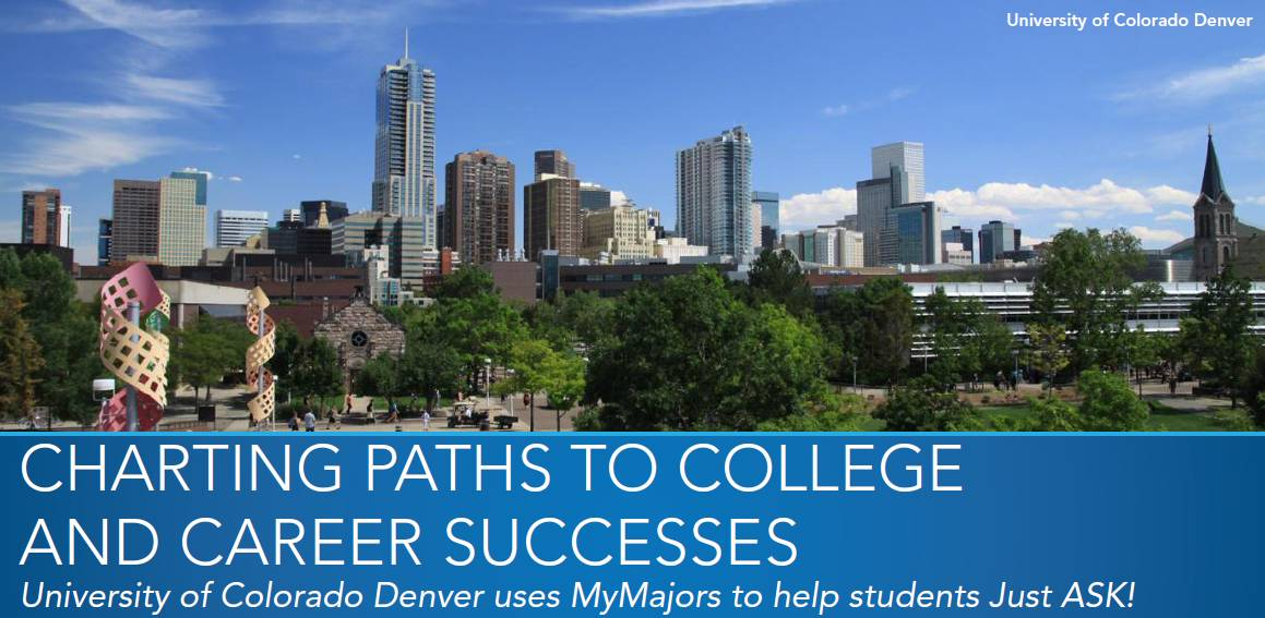 UCDenver University of Colorado Denver uses MyMajors to help students