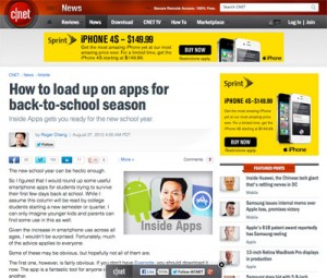 MyMajors Mobile App featured on CNET!