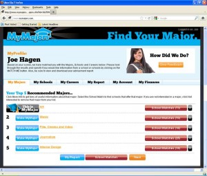 MyMajors Profile Pages!