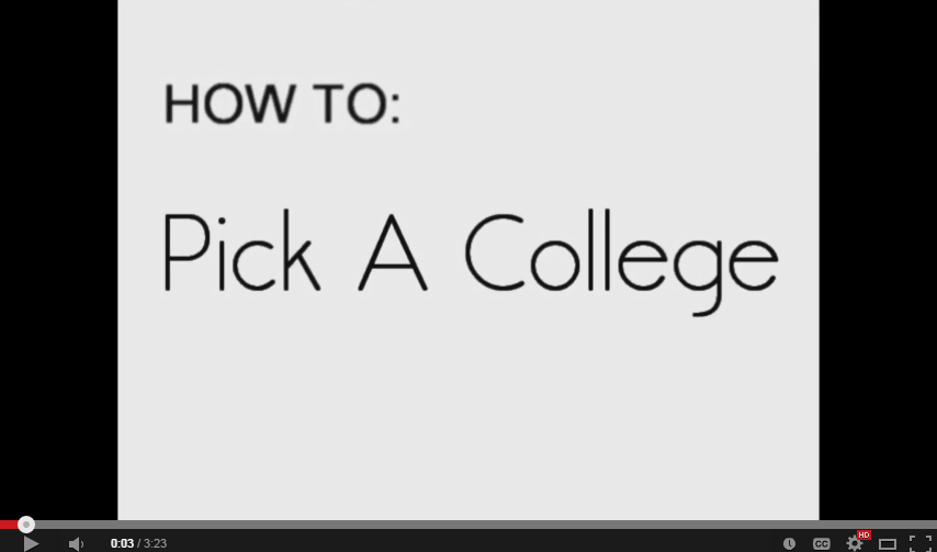 How to Pick a College (Video)